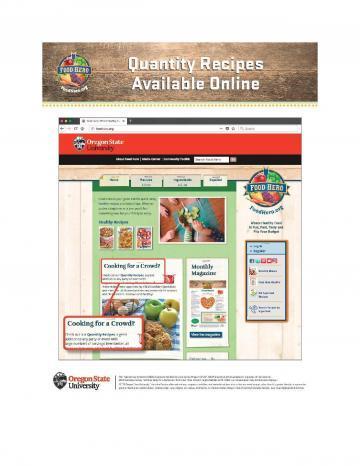 Quantity Recipes Page