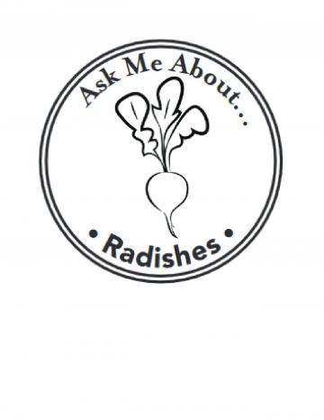Radishes Hand Stamp