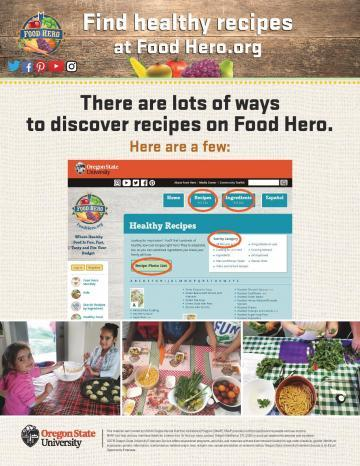 Find Healthy Recipes at Food Hero Version 1 - English