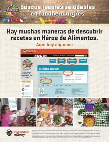 Find Healthy Recipes at Food Hero Version 1 - Spanish