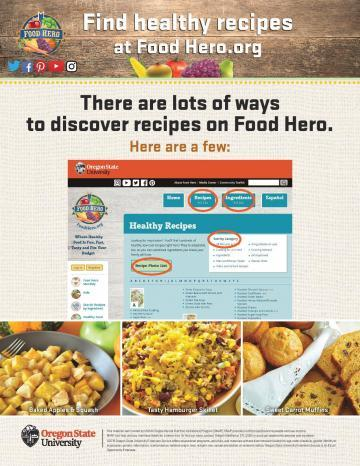 Find Healthy Recipes at Food Hero Version 2 - English