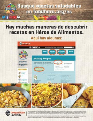 Find Healthy Recipes at Food Hero Version 2 - Spanish