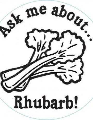 Rhubarb Handstamp