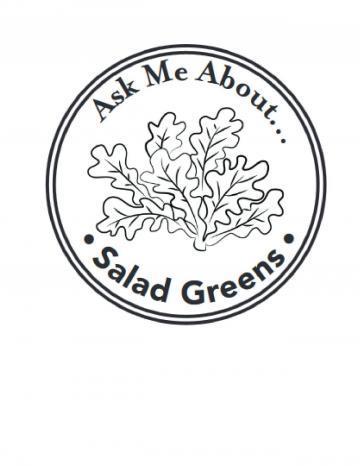 Salad Greens Hand Stamp