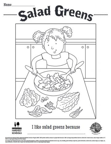 Salad Greens Coloring Sheet