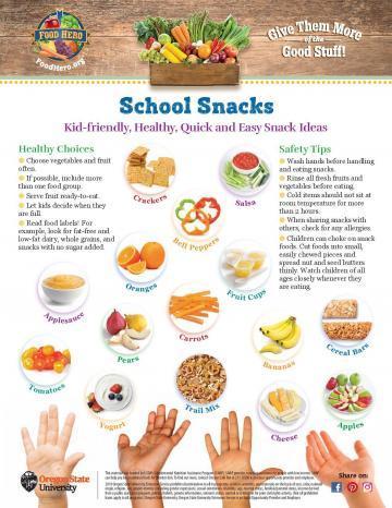 School Snack Monthly - English
