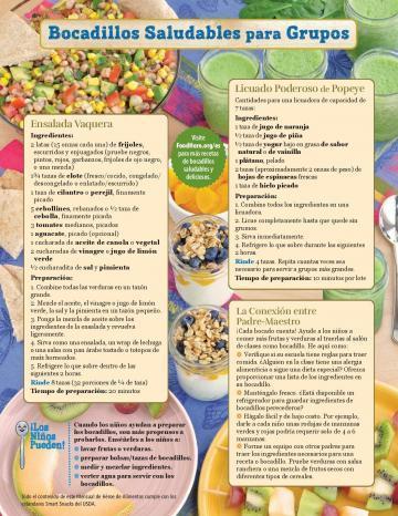 School Snack Monthly - Spanish