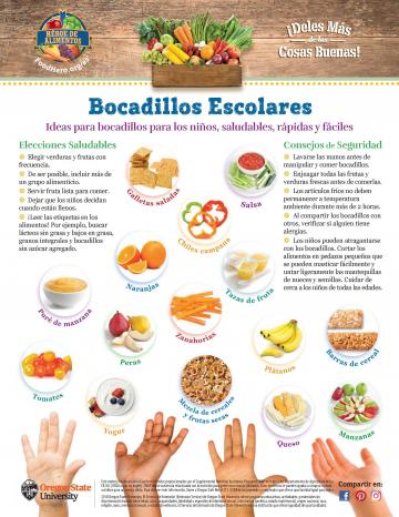 School Snacks Monthly - Spanish