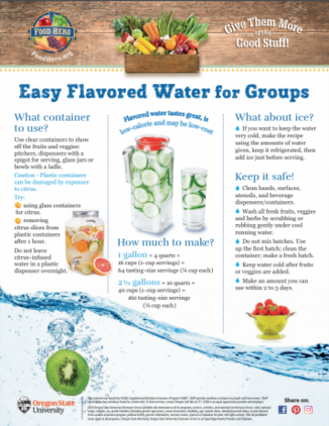 Easy Infused Water for Groups