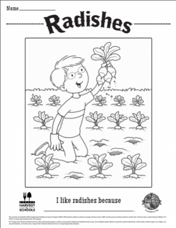 Radishes Coloring Sheet