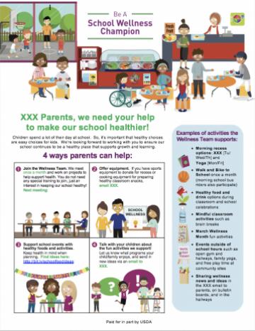 Food Hero School Wellness Parent Flyer Template