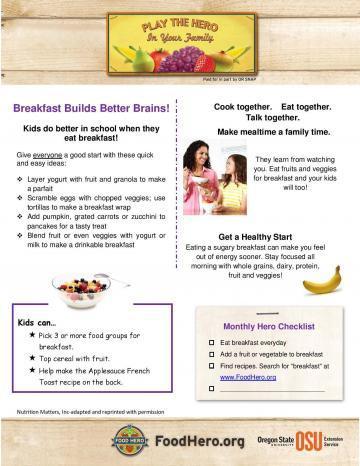 Breakfast Builds Better Brains