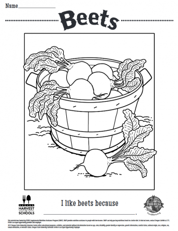 Beets Coloring Sheet