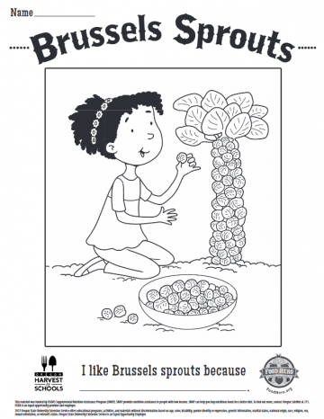 Brussels Sprouts Coloring Sheet