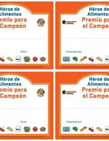 Small Certificates - 4 to a sheet - Spanish el