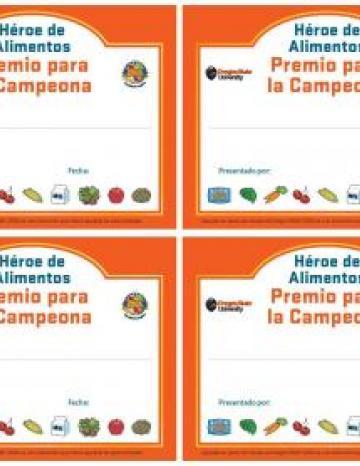 Small Certificates - 4 to a sheet - Spanish la
