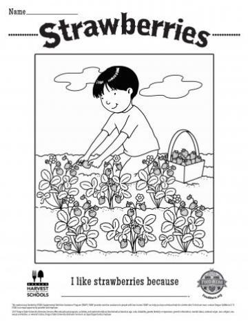 Strawberries Coloring Sheet