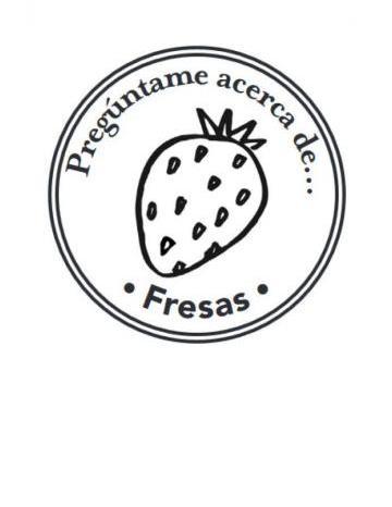Mano Sello Imagen de Fresas