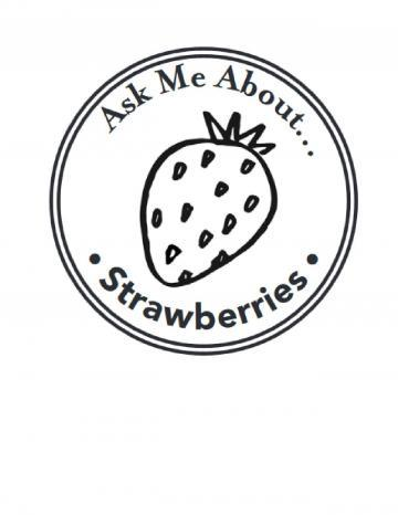 Strawberries Hand Stamp