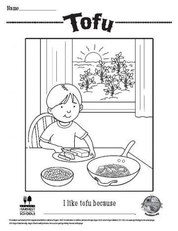 Tofu Coloring Sheet