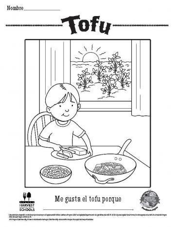 Hojas para Colorear de Tofu