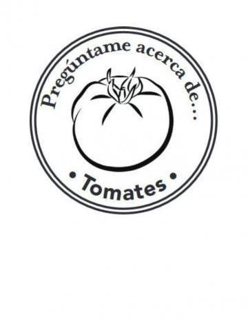 Mano Sello Imagen de Tomates
