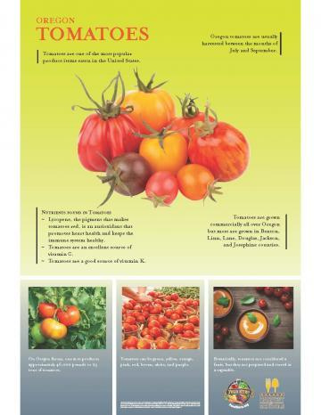 Tomatoes Oregon Harvest Poster
