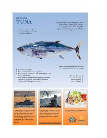 Tuna Oregon Harvest Poster