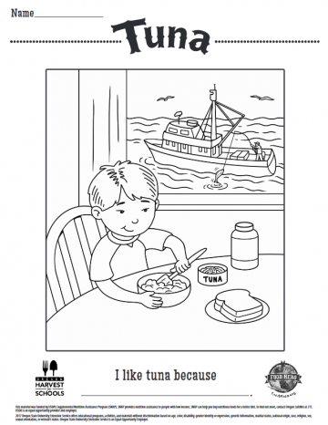 Tuna Coloring Sheet