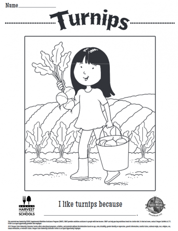 Turnips Coloring Sheet