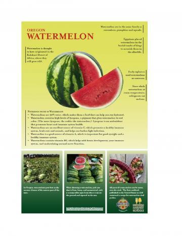 Watermelon Oregon Harvest Poster