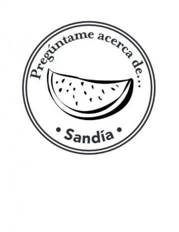 Mano Sello Imagen de Sandía