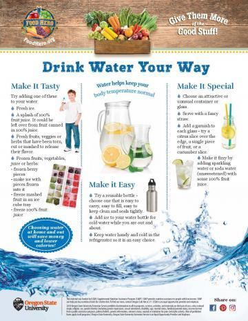 Drink Water Your Way Monthly