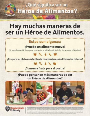What does it mean to be a Food Hero? - Spanish