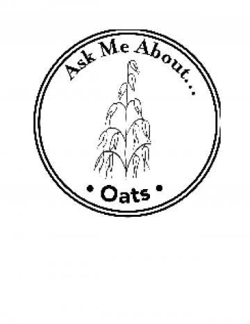 Oats Handstamp - English