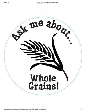 Whole Grain Handstamp - English