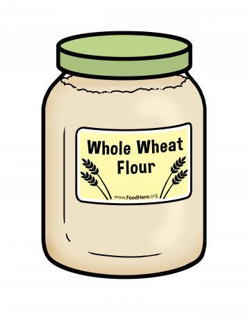 Whole Wheat Flour Illustration