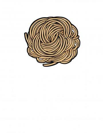 Whole Grain Pasta Illustration
