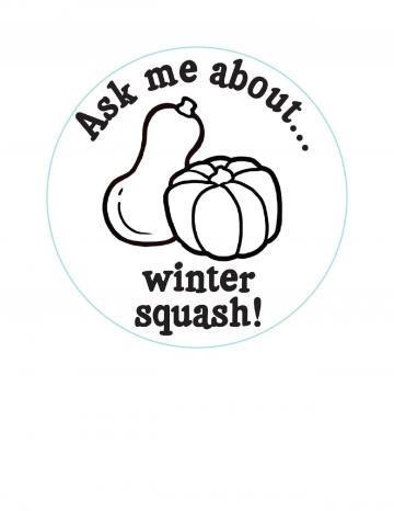 Winter Squash Hand Stamp