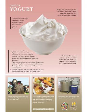 Yogurt Oregon Harvest Poster