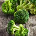 Broccoli on wood