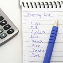 Prepara una lista de compras.