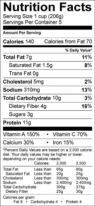 Food Label FH Tofu Scramble