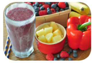 Make a smoothie with a fruit or veggie in it.